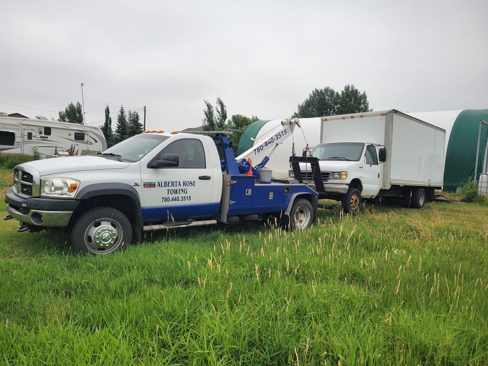 Towing services offered by Albertarose in Devon